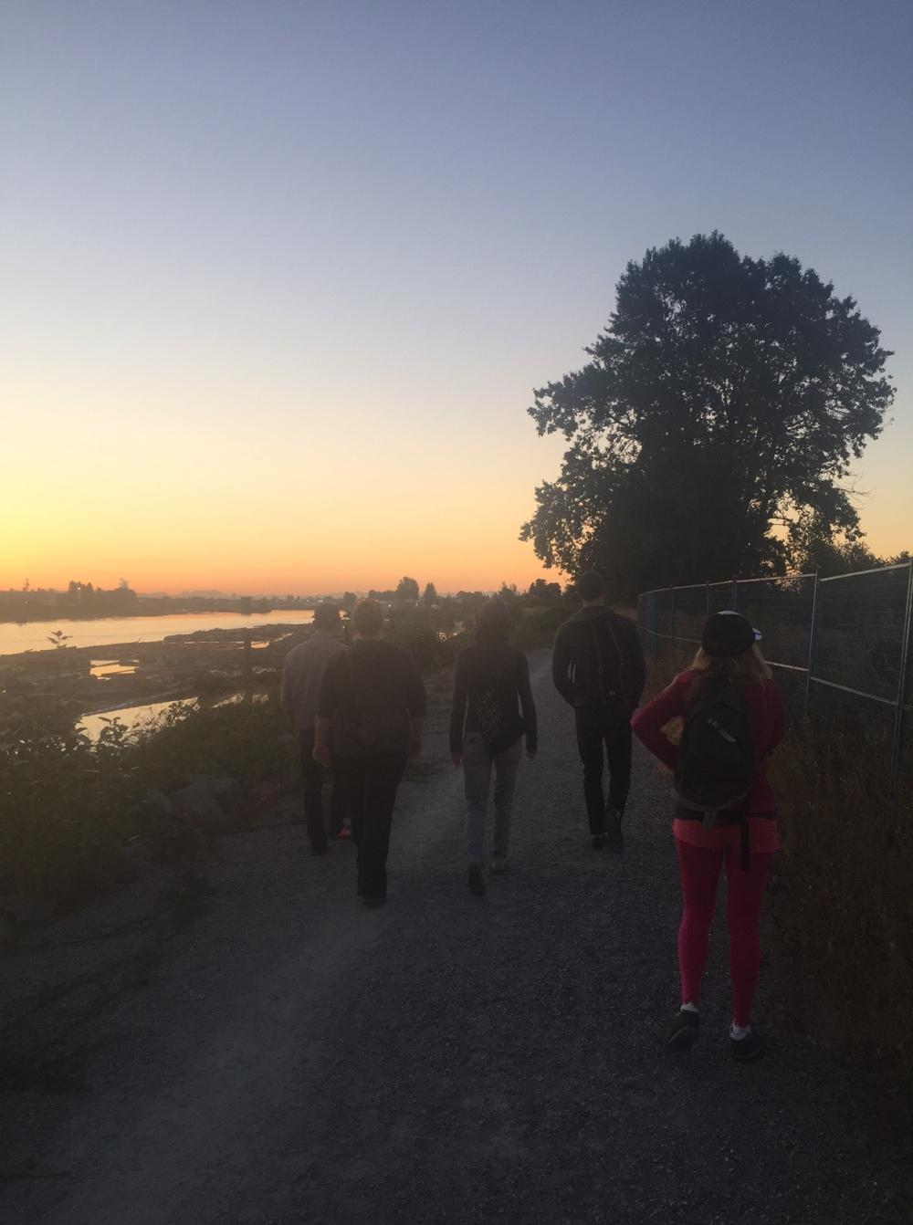 Dawn walking